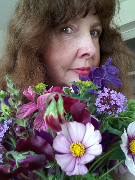 cally and flowers